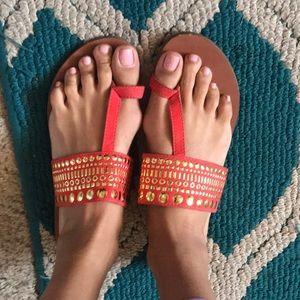 Orange Merona Boho Sandals